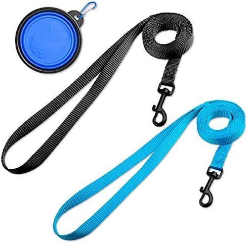 DOYOO 2 Pack Puppy Dog Leash Cat Leash Strong and Durable Leash with Easy to Use Collar Hook product image