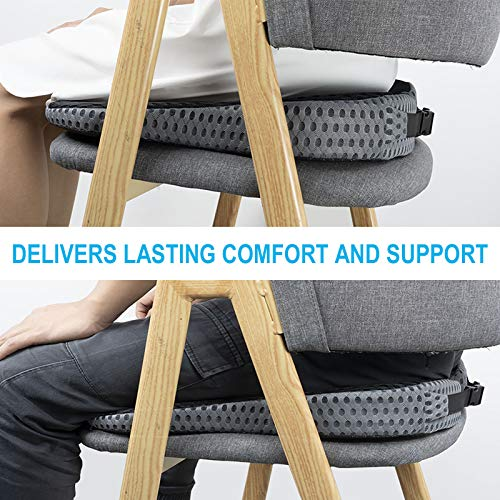 Car Coccyx Seat Cushion Pad for Sciatica Tailbone Pain Relief, Heightening Wedge Booster Seat Cushion for Short People Driving, Truck Driver, for Office Chair, Wheelchair
