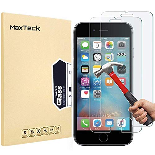 MaxTeck [3 Pack Screen Protector for iPhone 6 6S 7 8, 0.26mm 9H Tempered Shatterproof Glass Screen Protector Anti-Shatter Film for iPhone 6 6S 7 8 4.7' inch [3D Touch Compatible]