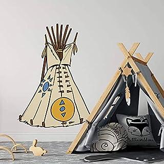 Yakari väggtatuering självhäftande indianer figur tipi tält klistermärke för barn pojke flicka barnrum dekoration 23 x 30 cm