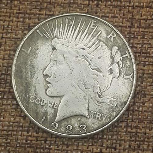 YunBest 1923 Morgan One Dollars-US Old Coin- Great American Coin- Monedas conmemorativas Antiguas de EE. UU.