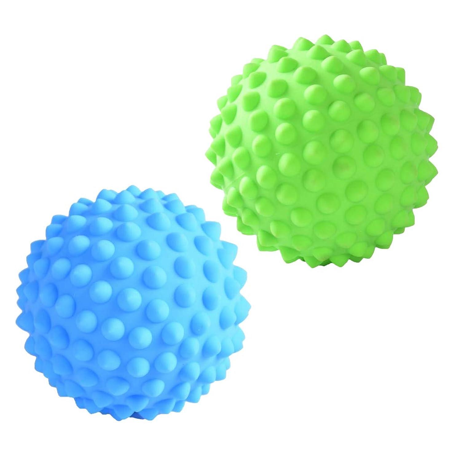世界記録のギネスブック備品お別れD DOLITY マッサージローラーボール マッサージローラー 指圧ボール トリガーポイント ツボ押しグッズ 2個入