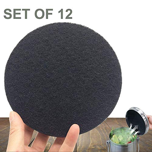 Buy CoalFilters Countertop-Charcoal Filter Kitchen-Compost-Bucket Absorbs Odor in Bin (12-Packs)