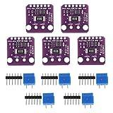 5Pcs I2C Módulo de sensor de corriente de interfaz, DC 3 V-5,5 V 3,3 W GY-INA219 Módulo de...