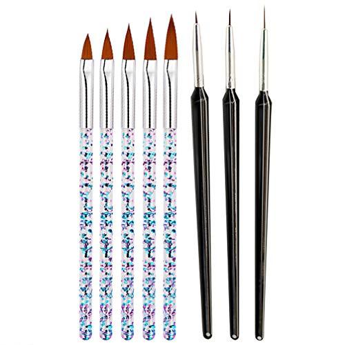 PRETYZOOM Nail Art Brush Nail Art Pen Nail Art Supplies Tool Nail Art Liner Brushes Nail Art Design Dotting Pen Tools for Home Diy And Salon Gift for