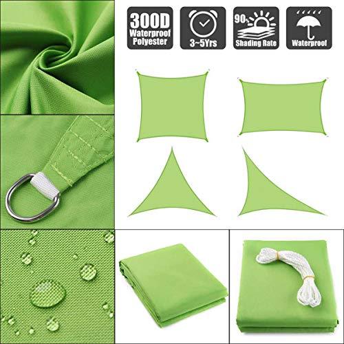 HUANGRONG Impermeable 300D Sombra Verde Cuadrado del rectángulo de Vela Jardín Terraza Piscina Canopy Sombrilla de excursión Que acampa Toldo de Vela Arena Desgarro (Color : 2x4M)