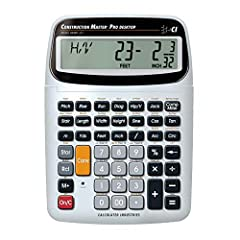 SOLVE ALL YOUR DIMENSIONAL MATH quickly and accurately with the award-winning CM Pro-Desktop construction calculator's powerful built-in solutions for building; and full trig functions with sine, cosine, tangent, arcsine, arccosine and arctangent LET...