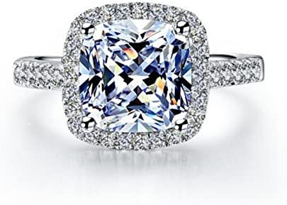 TenFit Jewelry 3 Carat safety VVS1 Simulated Max 55% OFF Engagement fo Ring Diamond