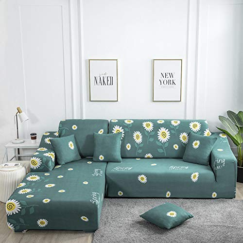 European-Style Simple All-Inclusive Universal L-Shaped Sofa Cover, Elastic Anti-Fouling And Anti-Wrinkle Sofa Towel, Easy To Install And Machine Washable Sofa Chair Cover For Home Protection