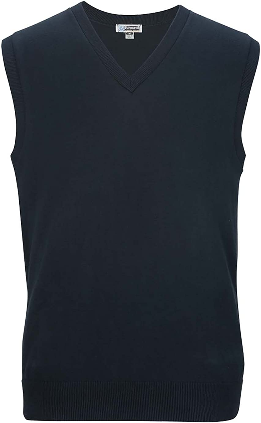 Edwards Garment Men's Fashion Gauge Nylon Waist V Neck Sweater