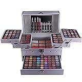FantasyDay® 132 Colori Makeup Contouring Kit combinazione con Palette Ombretti, Correttore, Polvere del Sopracciglio, Polvere Ombreggiante, Fard, Lucidalabbra e Polvere Pressata #N3