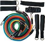 XXYYKK Equipos De Fitness Bandas De Resistencia De Entrenamiento Látex 11Pcs / Set Tubos De Ejercicio Pilates Expansores De Cuerda De Entrenamiento Tipo .B