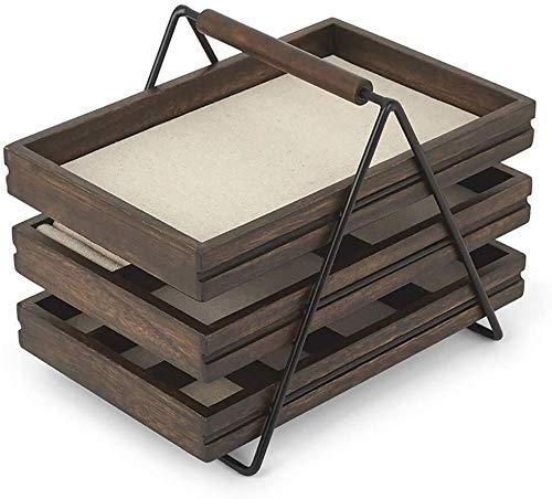 Decoratieve box Sieraden kast sieraden ladder magazijnstelling drie-tier opbergdoos creatieve houten sieraden doos eenvoudige sieraden rek grote sieraden doos Juwelendoos