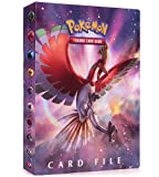 LSST Album Compatible with Pokemon GX EX Mega Cards, Binder Compatible with Pokemon Cards, Protector Sleeves Compatible with Pokemon Cards, Album Binder Compatible with Pokemon (Solgaleo and Ho-Oh)