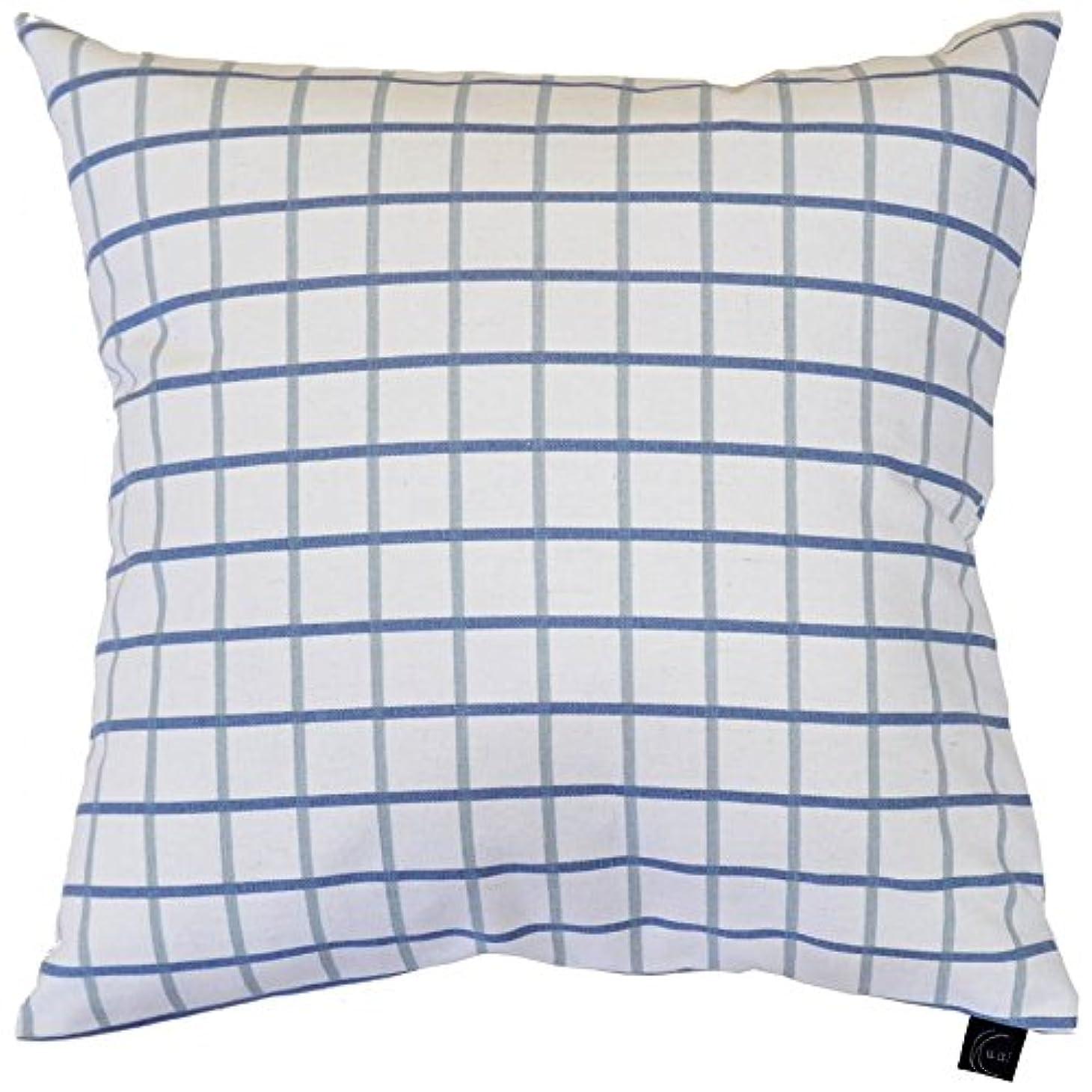 セマフォ綺麗な然としたクッションカバー 45cm チェック 北欧 シンプル 多色展開 グラフブルー