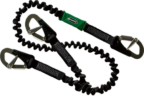 Baltic Safety Line 3 Hook Elasticated - Black. 2m