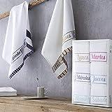 Barceló Hogar - ✔️ Pack 6 Paños de Cocina Katrine Semanario - Paños de Cocina Modernos - 100% Algodón Rizo Americano, Paño de Cocina 50x50