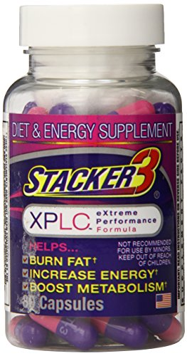 Stacker 3 XPLC Body Fat Burner and Metabolism Boosting Weight Management Supplement (80 Capsules)