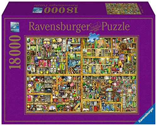 Ravensburger Italy- Puzzle 18000 Pezzi Colin Thompson Libreria, Multicolore, 17825 4
