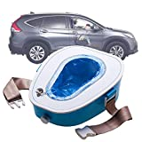 suneagle Auto Mobile Toilette Mobile Falttoilette Camping Toilette, Tragbare Toilette, Doppelte Dichtung, Umweltfreundliches Material, Geeignet FüR Erwachsene Und Kinder,Blue