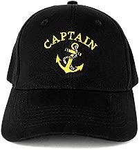 Captain Anchor Embroidered Deluxe 100% Cotton Cap