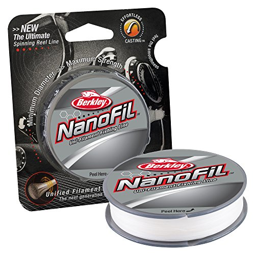 Berkley NanoFil Uni-filament Fishing Line, 2 Pound Test-150 Yard, Clear Mist