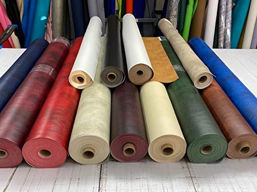 royaltablecloths Lederstoff, Meterware, Kunstleder, PVC-Vinyl, Premium-Qualität, mushroom, 1 meter (140X100cm)