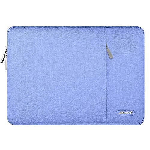 MOSISO Funda Protectora Compatible con MacBook Air 13-13.3 Pulgadas/MacBook Pro/Ordenador Portátil, Bolsa Blanda de Estilo Vertical,Azul Serenidad
