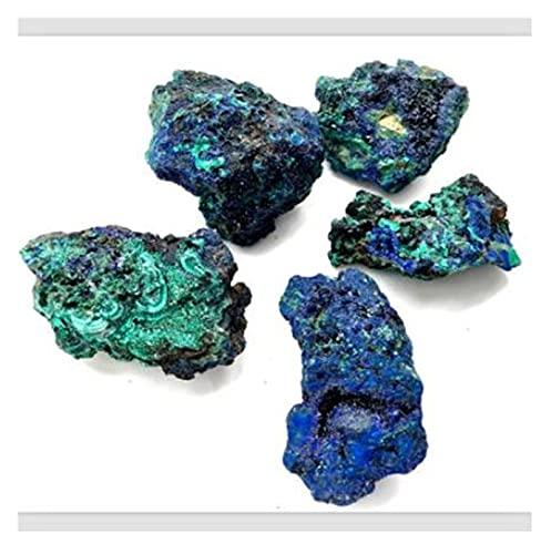 YSJJAXR Naturkristall rau Natürlicher Blauer Azurit-Mineralprobenerz-Stein-Malachit-Kristall-grober Stein (Color : 50g)