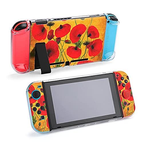 Funda protectora para Nintendo Switch, diseño de flores de amapolas en papel...