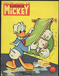 Le Journal de Mickey Mouse French comic magazine #312 Donald Duck 5/18 1958