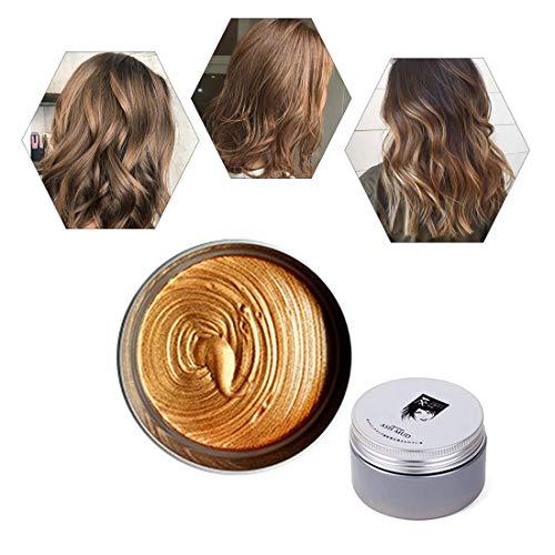 Instant Haarwachs , Einmalige temporäre natürliche Frisur Farbe Haarfärbemittel Wachs , DIY Haar Ton Styling Styling Wachs für Party, Cosplay, Täglicher Gebrauch, Halloween (Braun)