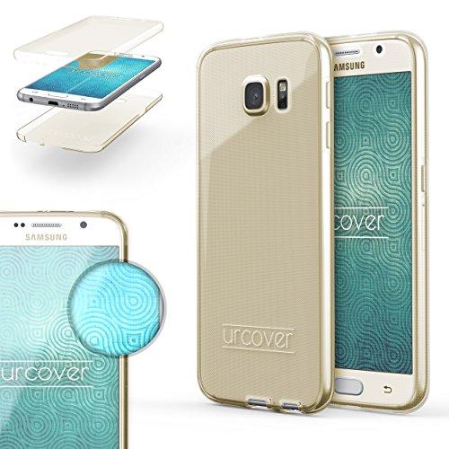 Urcover TPU Ultra Slim 360 Grad Hülle kompatibel mit Samsung Galaxy S6 Handyhülle Schutzhülle Hülle Cover Etui Champagner Gold