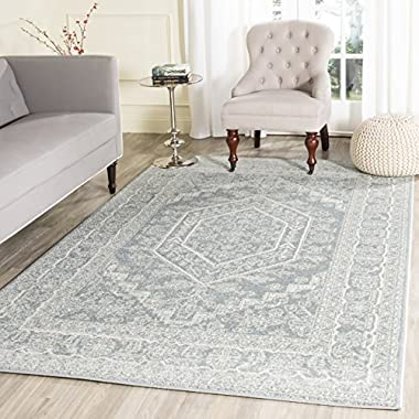 Safavieh Adirondack Collection ADR108T Slate and Ivory Oriental Vintage Medallion Area Rug (8' x 10')