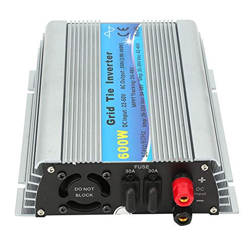 DC 22-60 V, pantalla LED de alta eficiencia, fuente de alimentación solar, 600 W, para el hogar para aire acondicionado, cine en casa (AC 220-240 V)