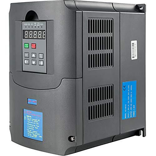 VEVOR Variador de Frecuencia 7.5KW 34A 220-250V Convertidor de Frecuencia Variable Ajustable Convertidor de FrecuenciaVFD 10HP