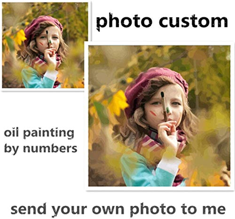 cómodo Personalidad Foto personalizada su propia pintura al al al óleo de bricolaje por números Dibujo de la imagen Lienzo Boda Familia Niños Fotos enmarcadas 50x70cm  compra en línea hoy