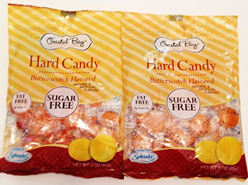 Coastal Bay Confections Butterscotch Flavored; Sugar Free; Hard Candy (2 Pack)