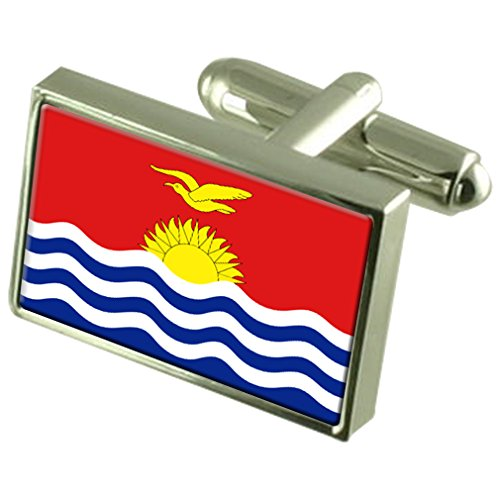 Sterling Silber Manschettenknöpfe Flagge Kiribati