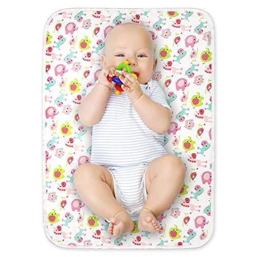 Lot de 2 tapis à langer pour bébé - Portable - Imperméable - 50 cm x 70 cm