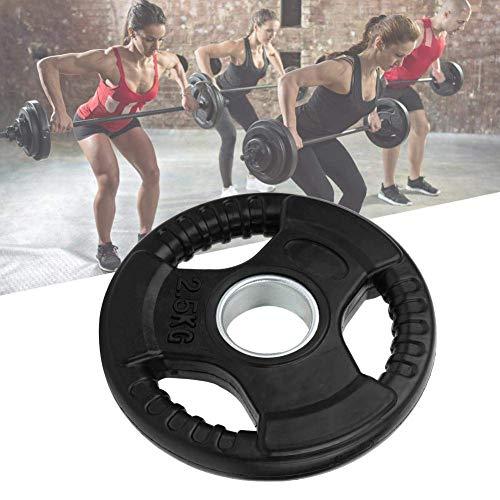 Pbzydu Gummi + Gusseisen Achtheben Scheibe Gewichtheben Scheibe, 2,5 kg / 5 kg / 10 kg / 15 kg / 20 kg Verschleißfestes Langhantelstück, Kniebeugen Übung zum Gewichtheben(2.5KG)