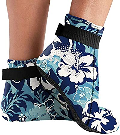 BPS Storm Sock 3mm Neoprene Beach Diving Socks Flexible Water Socks Low Cut Booties Anti Slip Fin Socks for Watersports