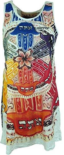 GURU-SHOP, Camiseta de Tirantes con Espejo, Camisa Larga, Minivestido, Mandala/Turquesa, Algodón, Tamaño:M (38), Camisas Seguras