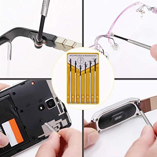 Eyeglass Repair Kit, Glasses Repair Tools with Glasses Screws, Precision Screwdriver kit, Cleaning Cloth and Tweezers, Suitable for Eyeglass, Mobile Phones, Watches