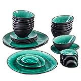 CCAN Juego de vajilla de cerámica Vintage de 33 Piezas con 12...
