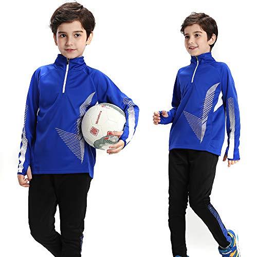 Lange mouwen Voetbal Sportkleding Kids Voetbal Pak Training Outdoor Sport Jas Set Fitness Jas Uniform Winter Warm voor Jongens