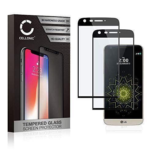 CELLONIC 2X Cristal Protector de la Pantalla Compatible con LG G5 (3D...