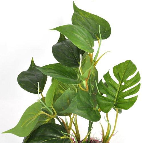 DIGIFLEX 20 cm künstliche Aquariumpflanze, grüne echt aussehende Aquarium-Zierblätter, Plastikpflanzen für Aquarien - 3