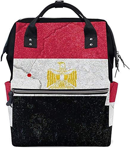 College Bag Ägypten Flagge Größere Kapazität Mumientasche Baby Windeltasche Einkaufstaschen Mumienrucksack Pflege Druck Papa Wasserdicht Stilvolle Mutter Windel Muti-Funktion Reis