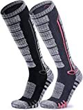 TSLA Unisex (Pack of 2) Ski Winter sports Active Snowboard Comfort Calf Socks